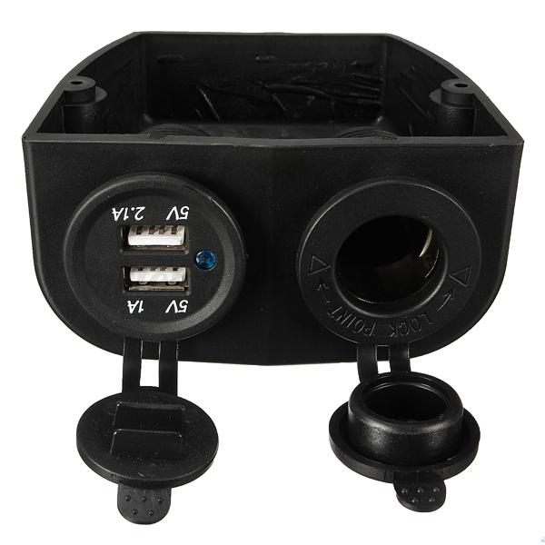 allume cigare adaptateur prise chargeur 2usb marine bateau caravane voiture 12v ebay. Black Bedroom Furniture Sets. Home Design Ideas
