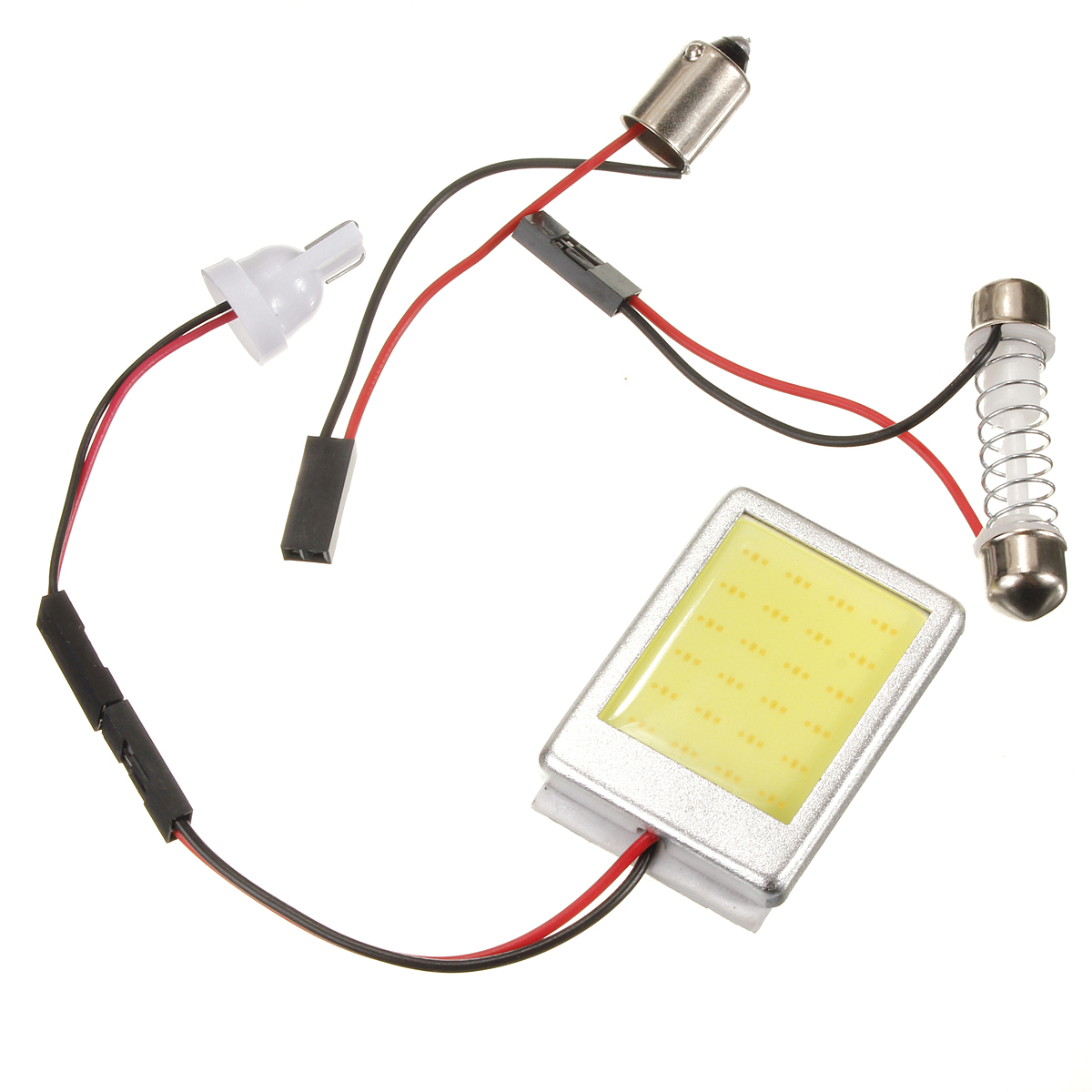 t10 ba9s white cob 24 smd led car interior panel dome festoon adapter light bulb ebay. Black Bedroom Furniture Sets. Home Design Ideas