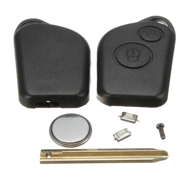 2 button remote key fob case blade kit for citroen saxo picasso xsara battery ebay. Black Bedroom Furniture Sets. Home Design Ideas