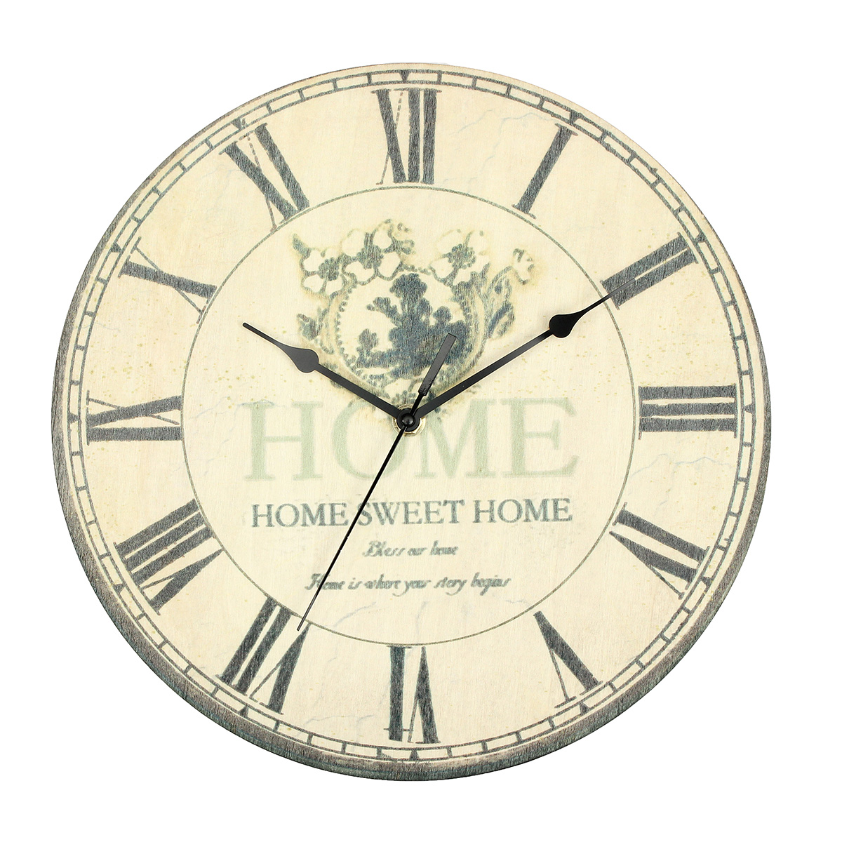 Large Vintage Antique Rustic Shabby Chic Wall Clock Home ...