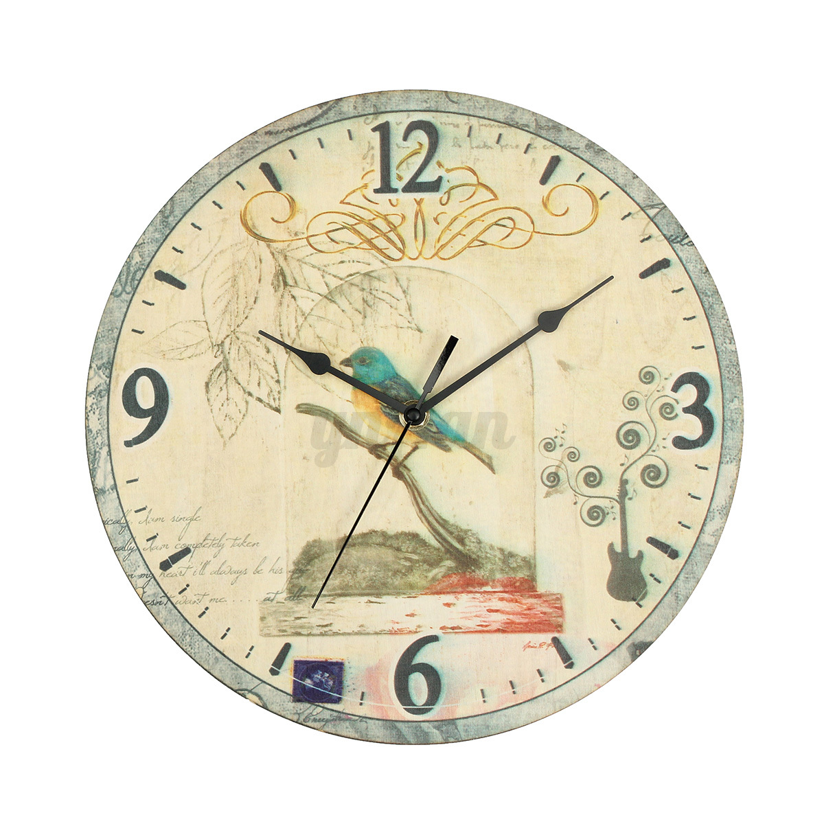 Vintage Rustic Shabby Chic Wall Clock Home Room Bedroom ...
