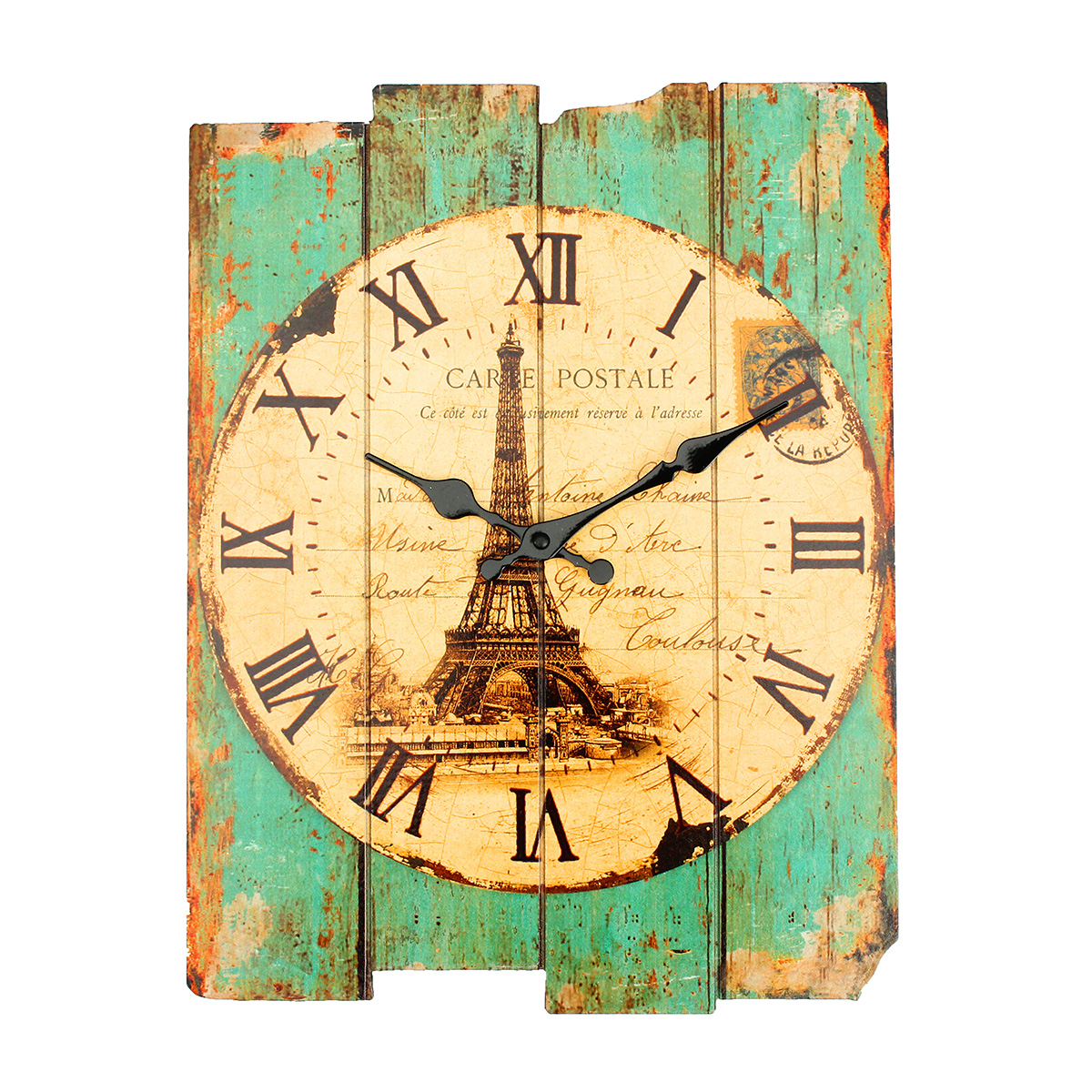Rustic Bar Wall Decor : Vintage rustic shabby wall clock chic home office cafe bar