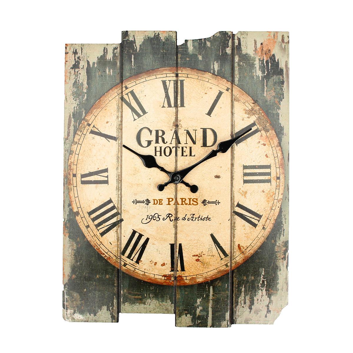 Large vintage antique rustic shabby chic wall clock home - Decoracion rustico vintage ...