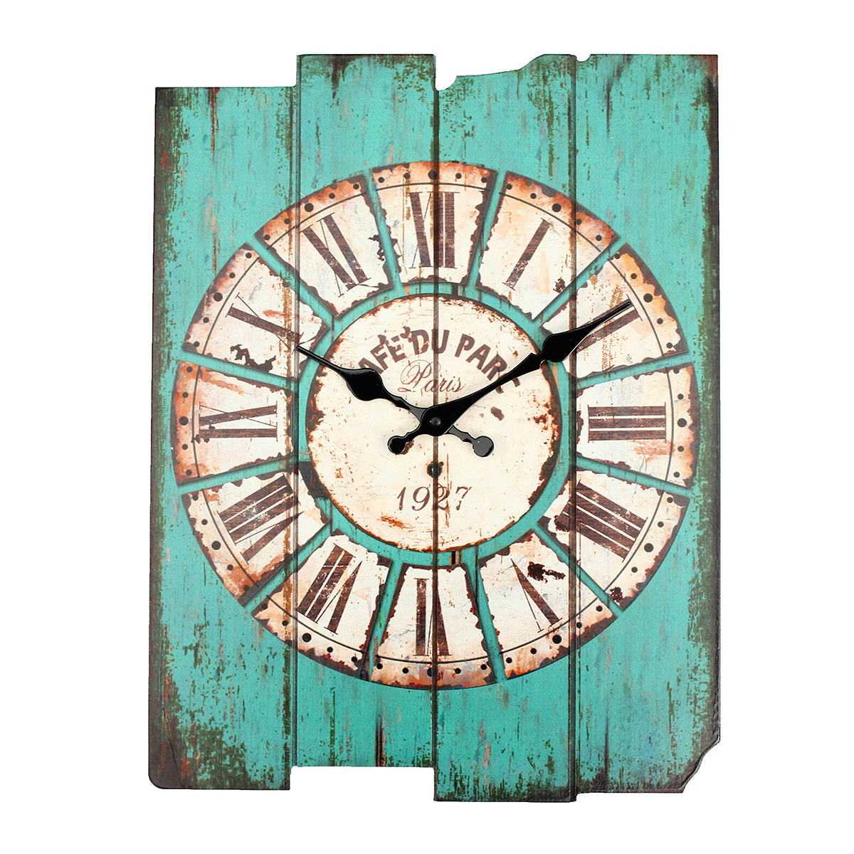Large Vintage Antique Rustic Shabby Chic Wall Clock Home