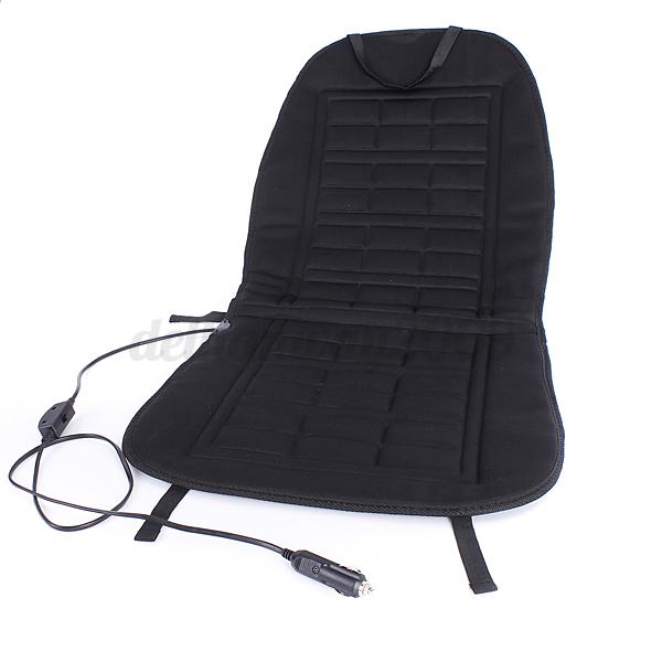 12V Universal Car Seat Hot Heated Pad Cushion Warmer Protectors Cover Mat Bla