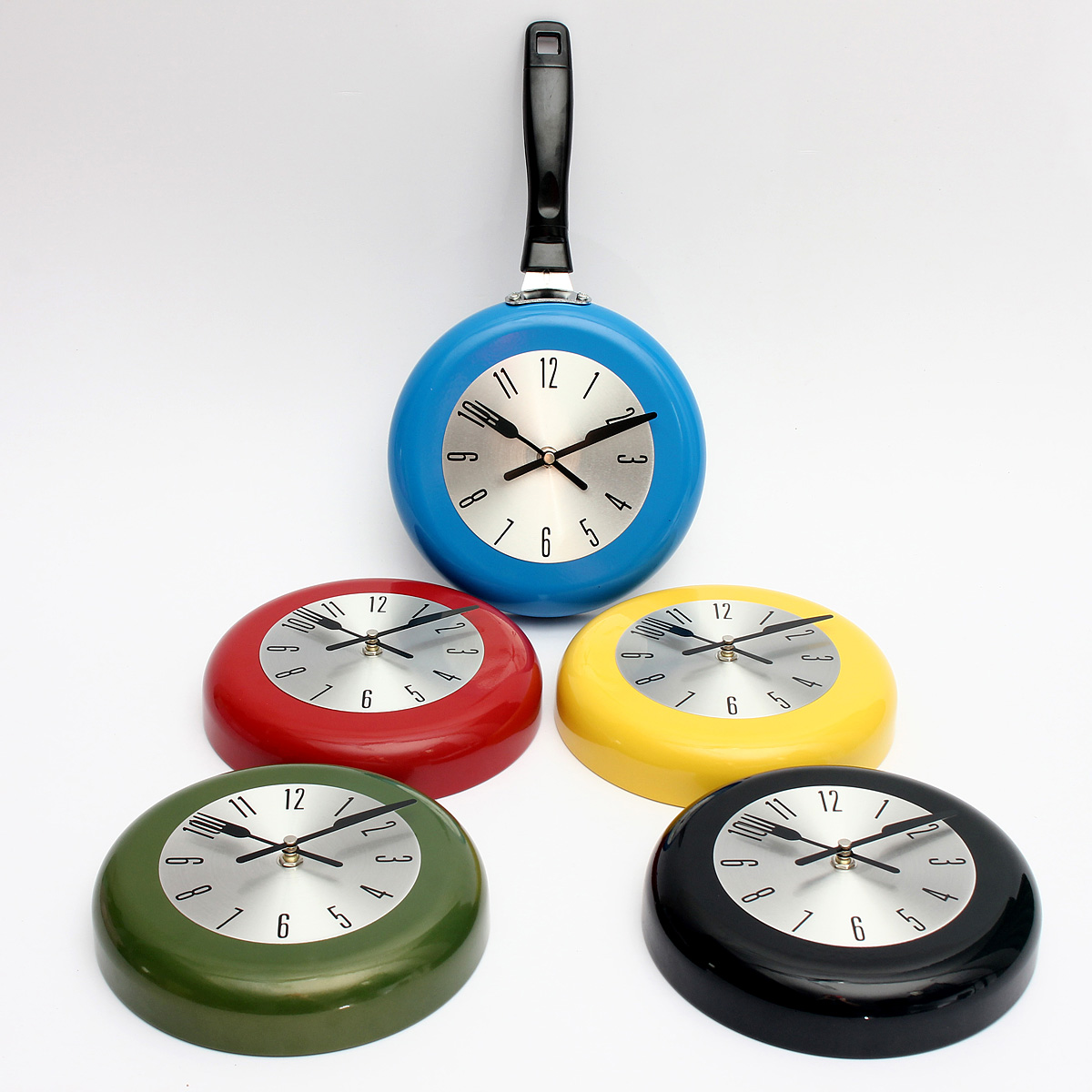 Decorative Wall Clocks For Home Office : Frying pan wall clock kitchen home office decor cooking