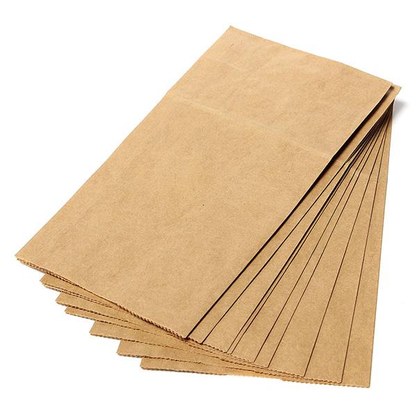 10 100pc sacs poche pochette papier sachet de pain. Black Bedroom Furniture Sets. Home Design Ideas