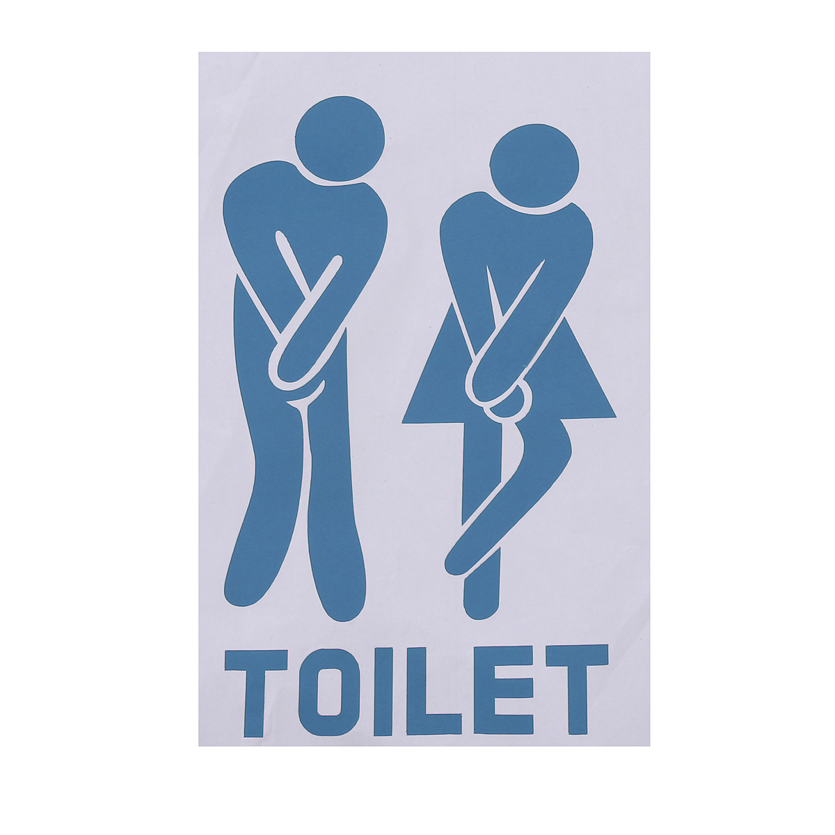 Wc toilet door sign sticker shop home bathroom door decal vinyl funny art decor ebay - Decor wc ...