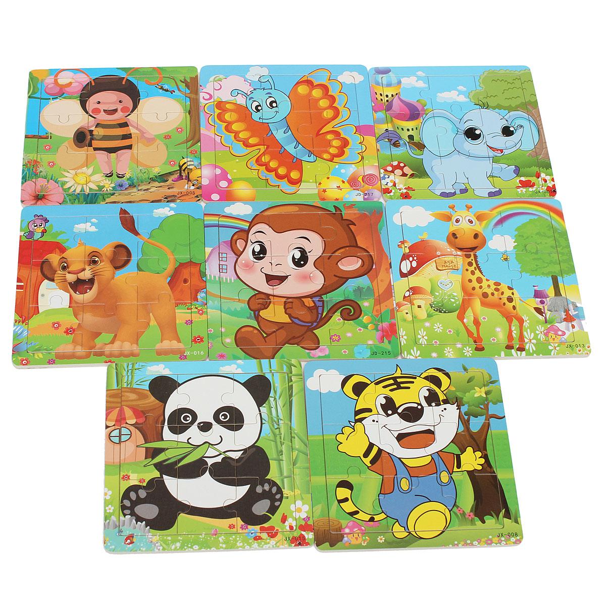 puzzle en bois jouet animal cartoon pour enfant b b jeu educatif casse t te ebay. Black Bedroom Furniture Sets. Home Design Ideas
