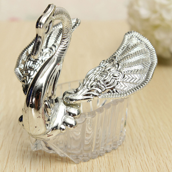 Elegant Romantic Dress Room Swan Bridal Wedding Party Candy Box Favor Gift Decor
