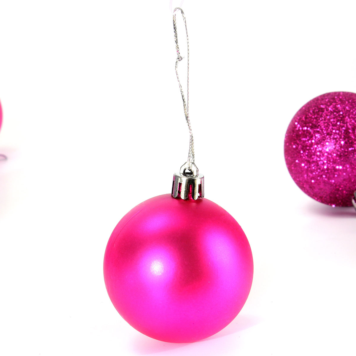 30 40 60mm new christmas tree decoration bauble ball for Crystal baubles christmas