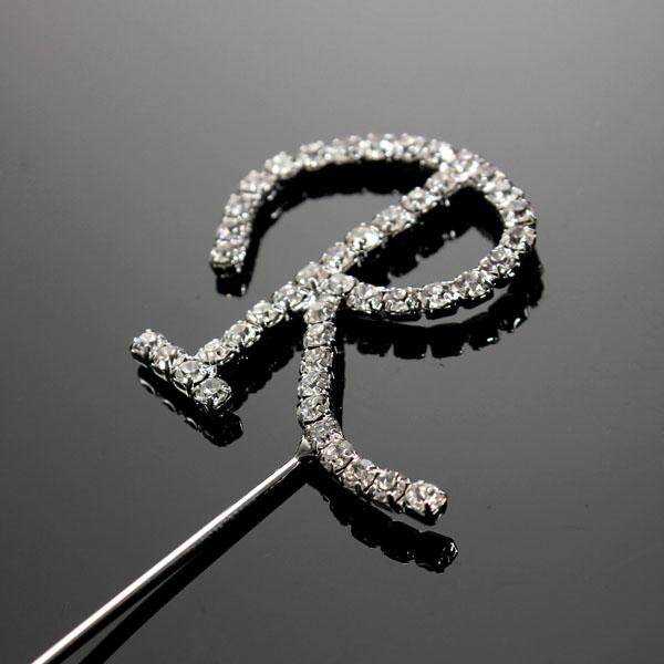 Queen Cake Decoration Letters : Alphabet Letter A-Z Rhinestone Crystal Monogram Wedding ...