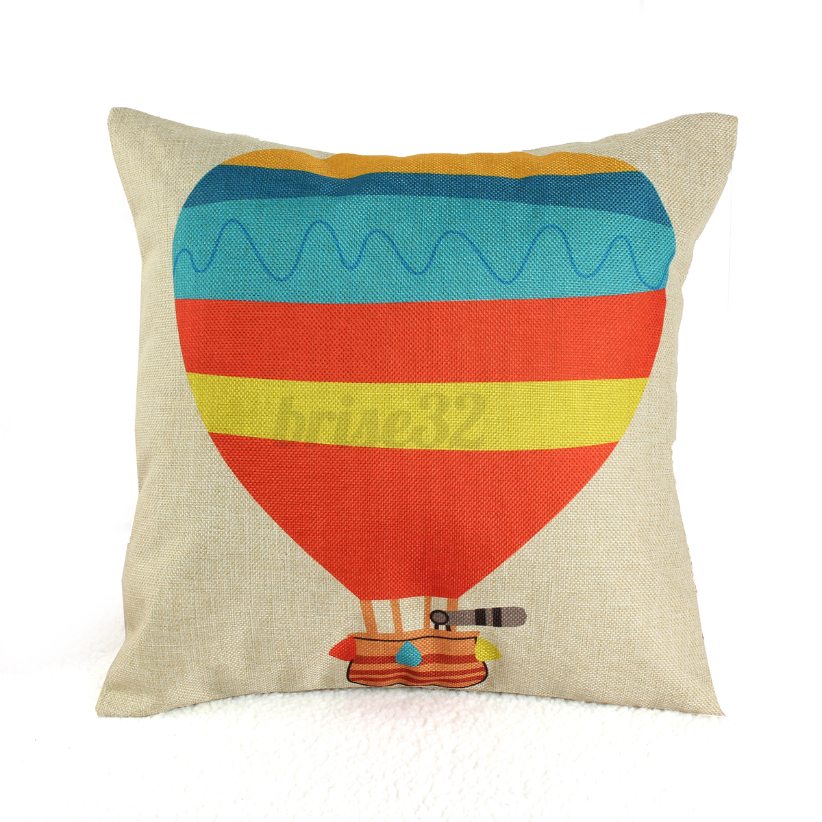 Square Throw Pillow Cover : Square Simple Retro Cotton Linen Throw Cushion Covers Pillow Case Home Decor