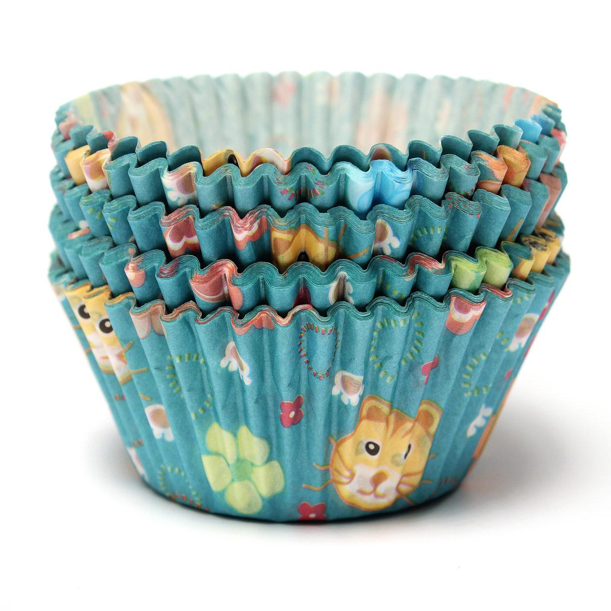 100PZ Pirottini in Carta per Muffin o Cupcake Torte Forno Decorazione Baking Cup