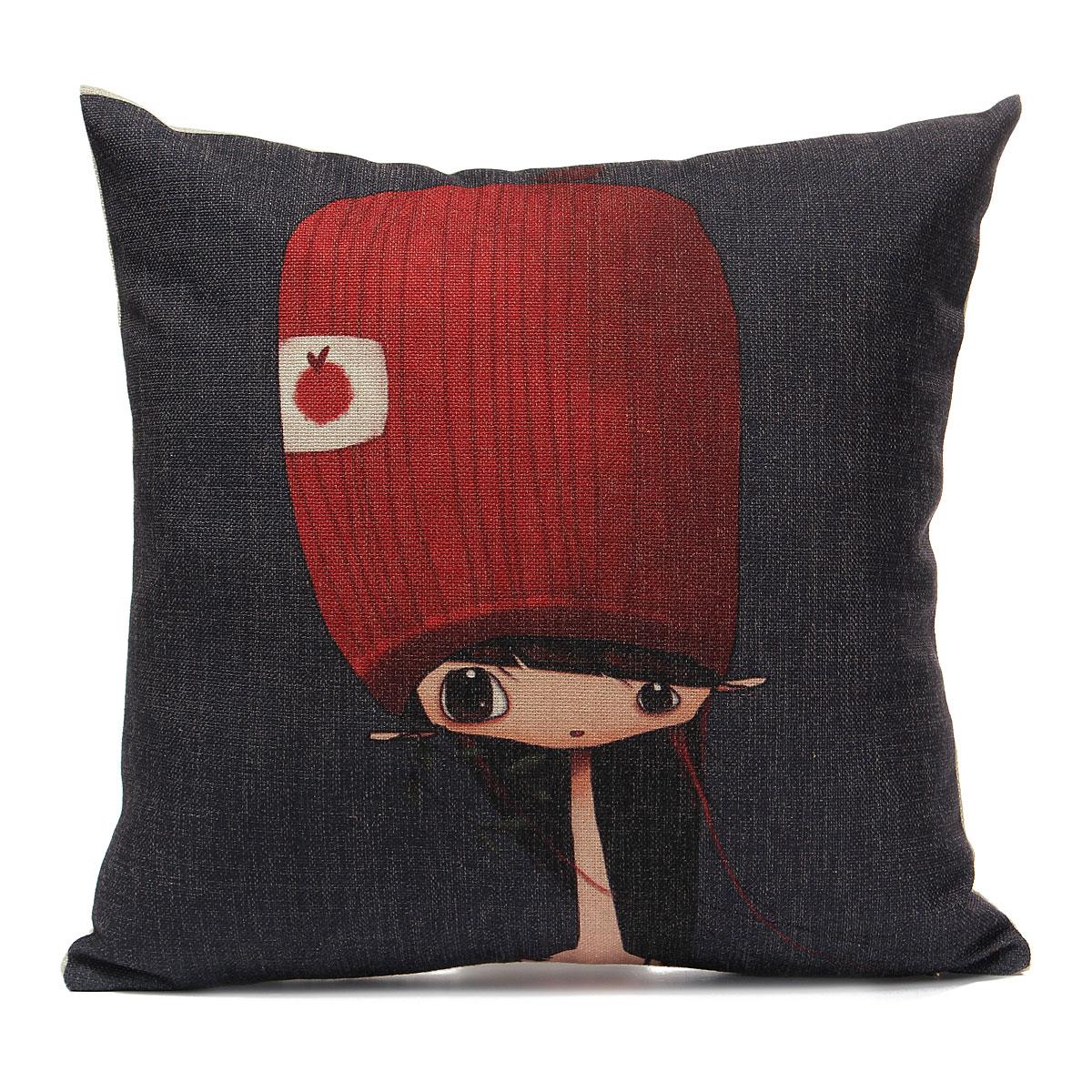 Boys And Girls Pillow Retro Pillow Pillowcase Cotton Linen Cushions Decoration