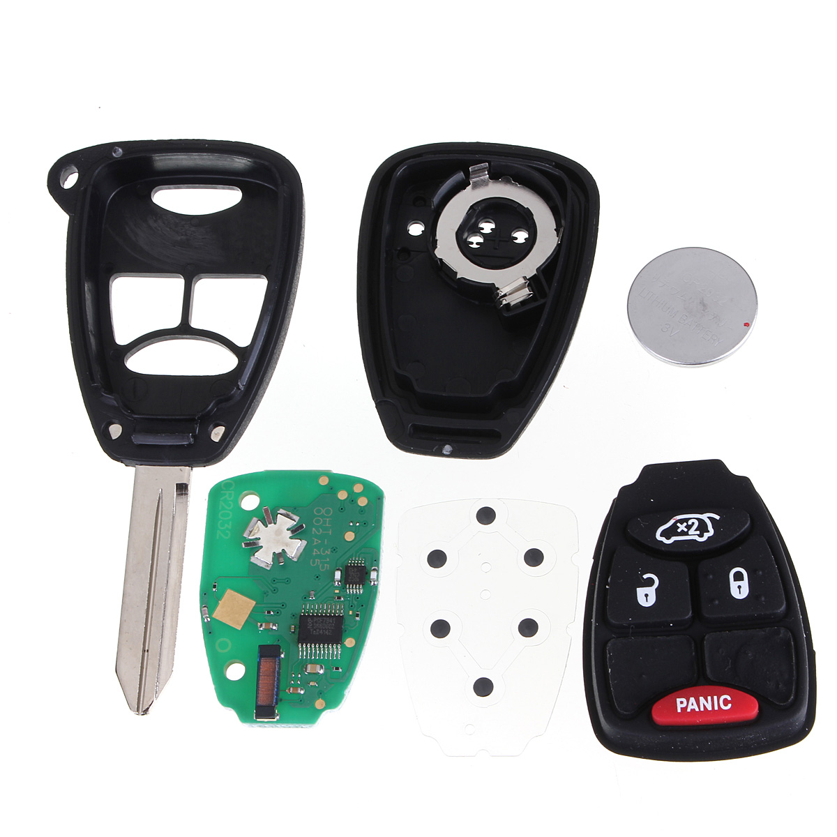 4buttons Remote Keyless Transmitter Fob Key With Chip For