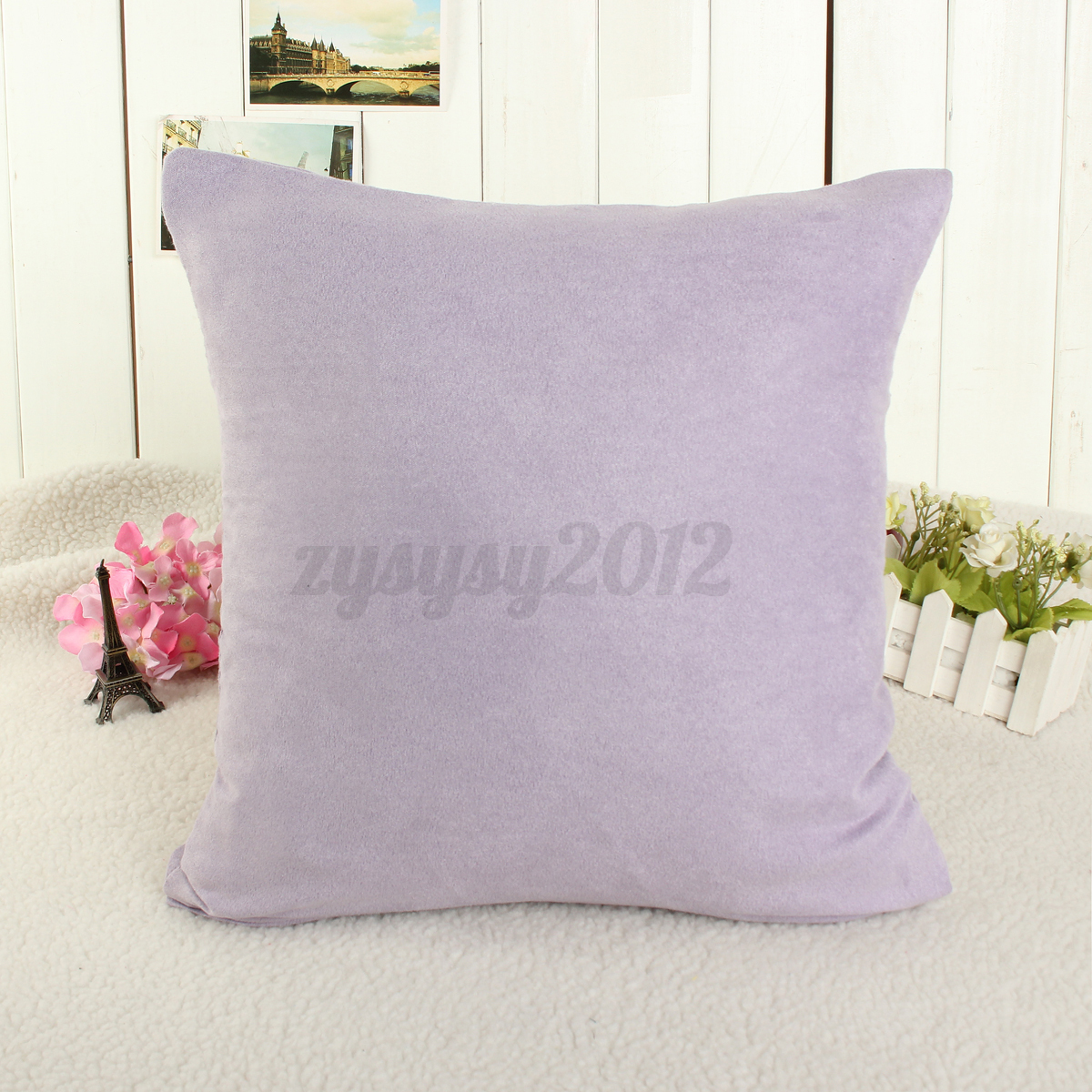 Soft Decorative Throw Pillows : Candy Color Soft Throw Pillow Cover Home Bed Sofa Decorative Case Decor Cushion eBay