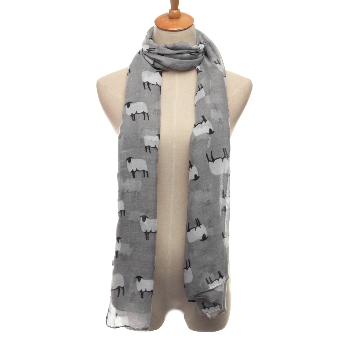 Fashion Women Sheep Animal Print Scarf Winter Warm Shawl Wrap Stole Pashmina