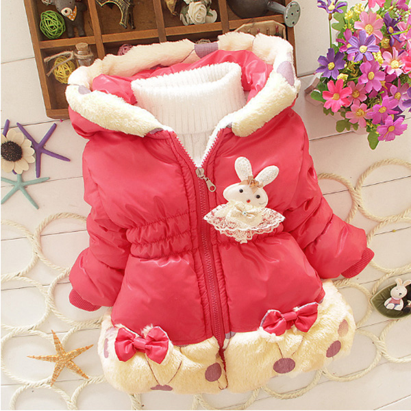 2 Color Baby Toddler Girl Floral Lace Fleece Jacket Coat Snowsuit Christmas Gift