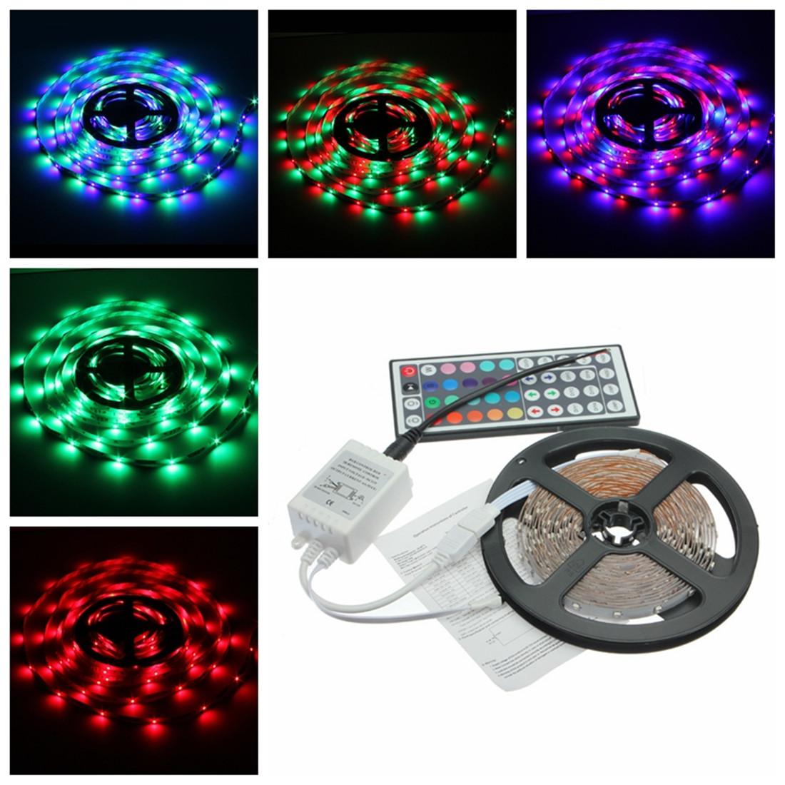 SMD RGB Flexible Strip Light   44 Key IR Remote Controller 12V eBay #0EBD76