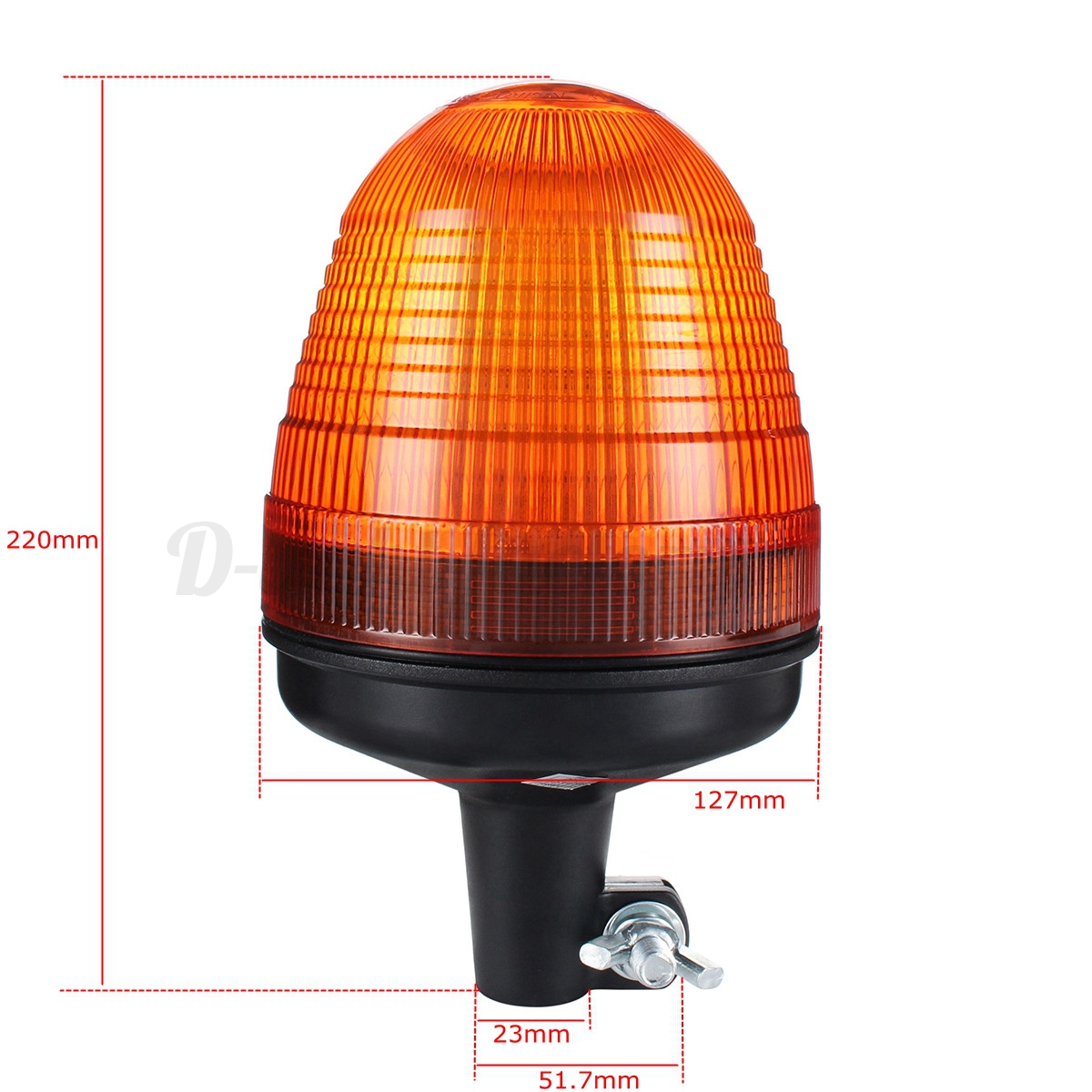 LED Rotating Flashing Amber Tractor Warning Beacon Pole Mount Light 12V//24V 12W