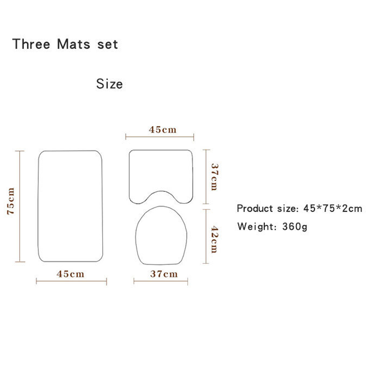 Details about  /180*180CM Waterproof Fabric Bathroom Shower Curtain Plain With Hooks Ring