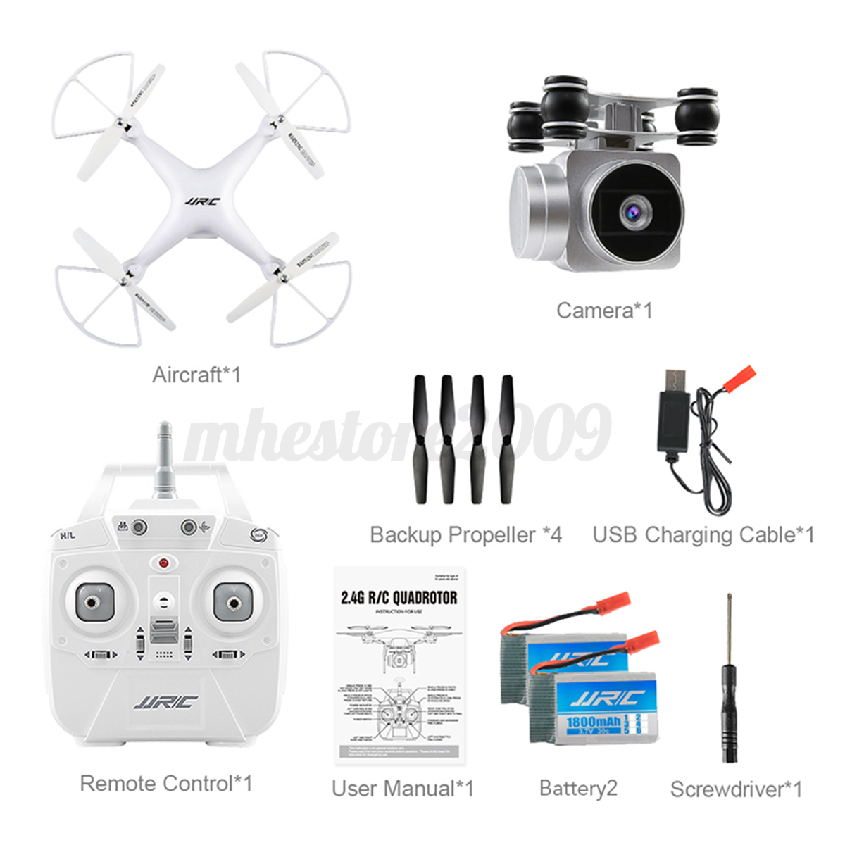 JJRC H68 Bellwether WiFi FPV 2MP 720P HD Camera RC Drone Quadcopter RTF/&Battery