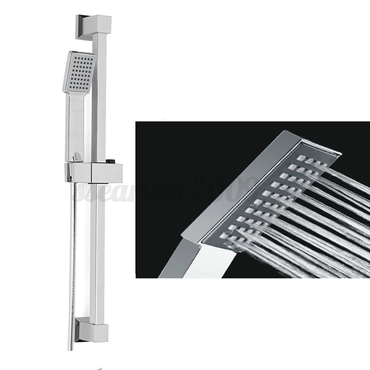 Bathroom Shower Head Riser Rail Bracket Handheld Shower Head