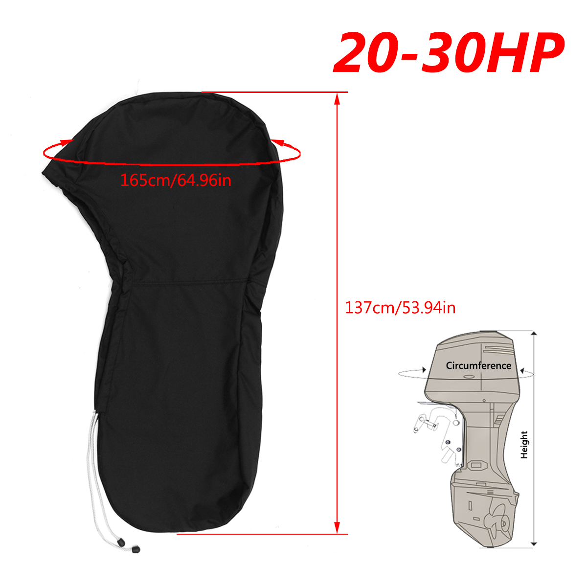 1PCS 600D Oxford For 6-225HP Motor Full Boat Outboard Engine Cover Waterproof