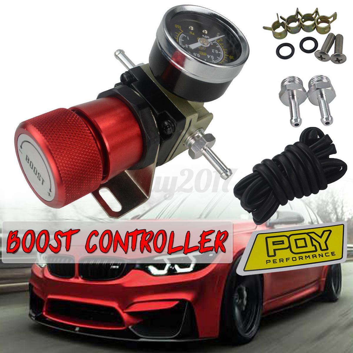 Universal Manual Turbo Boost Drucksteuerung mit Anzeige 1-150 PSI Rot Auto NEU