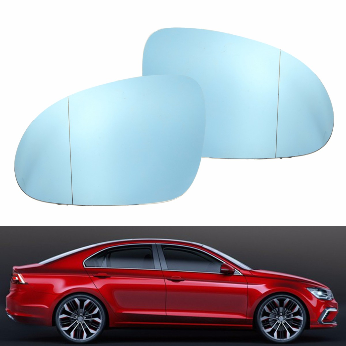 Left right wing mirror blue tinted glass heated for vw jetta image is loading left right wing mirror blue tinted glass heated planetlyrics Image collections