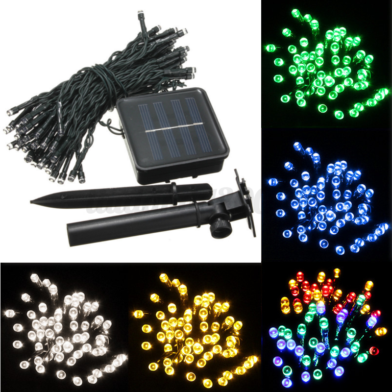1 18m led lichterkette solar batterie weihnachten licht au en innen leuchte deko ebay. Black Bedroom Furniture Sets. Home Design Ideas