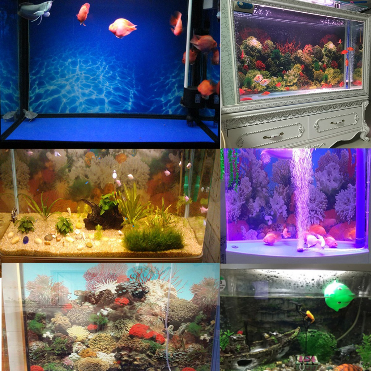 Double sided pvc landscape aquarium fish tank poster Aquarium landscape