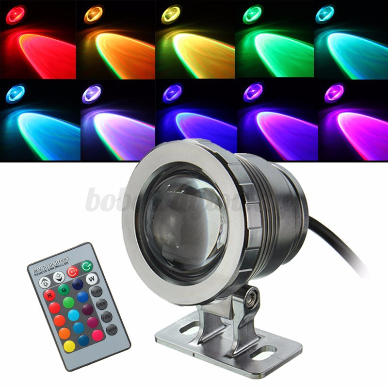 10w rgb boden einbaustrahler led gartenstrahler au enstrahler lampe 85 265v 12v ebay. Black Bedroom Furniture Sets. Home Design Ideas