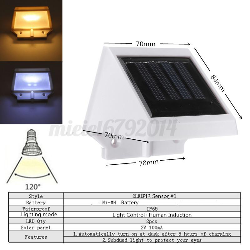 Lighting Basement Washroom Stairs: Solar 2-46 LED PIR Sensor Wall Light Security Motion Stair
