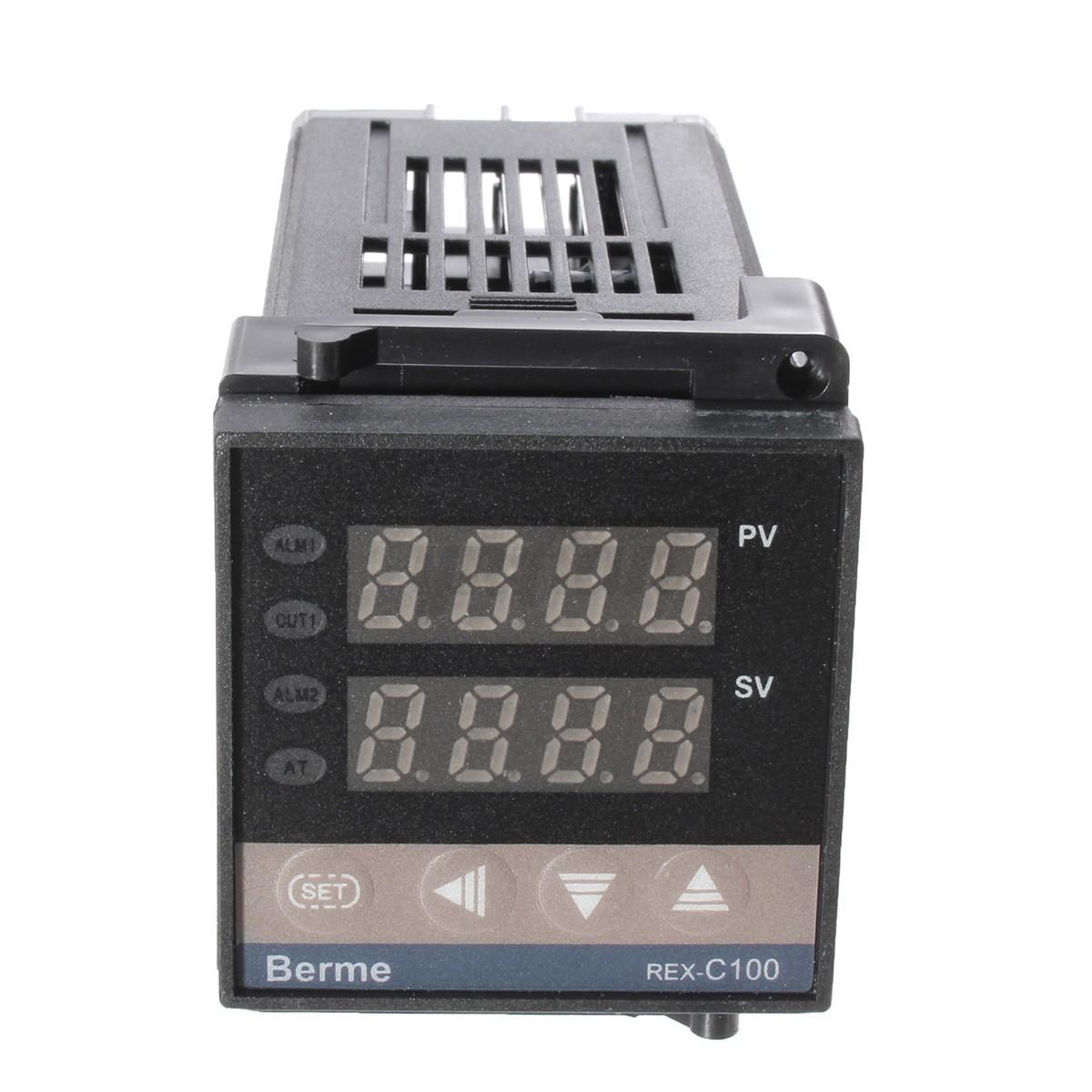 C100 Dual Digital PID Celsius C Temperature Controller  K Probe eBay #535E6B