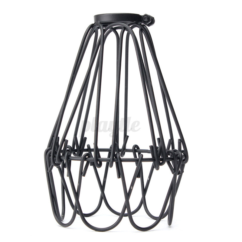industrial retro iron hanging lampshade cage holder no