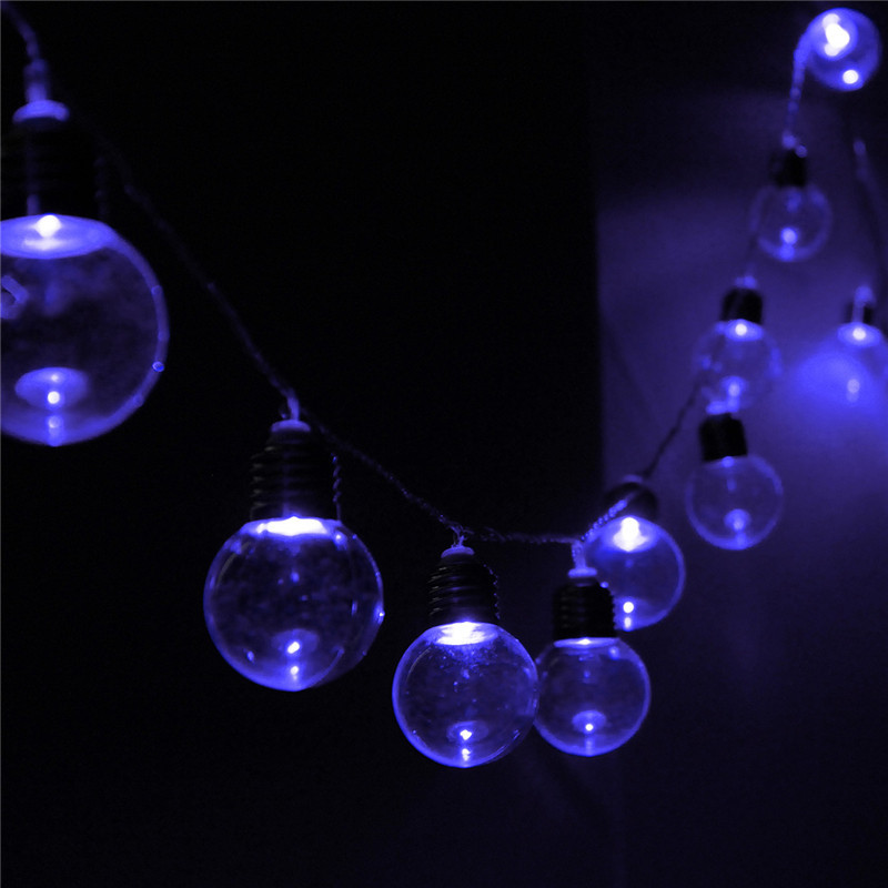 10M 20 LED Globe Patio Outdoor Fairy String Light Clear Bulb Chirstmas Wedding eBay