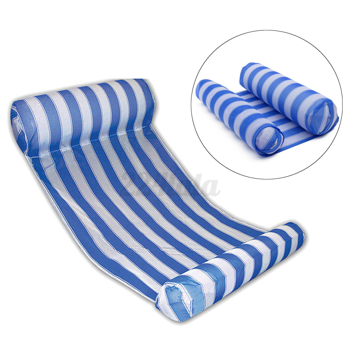 Swimming pool inflatable floating water hammock lounge - Swimming pool floating lounge chairs ...
