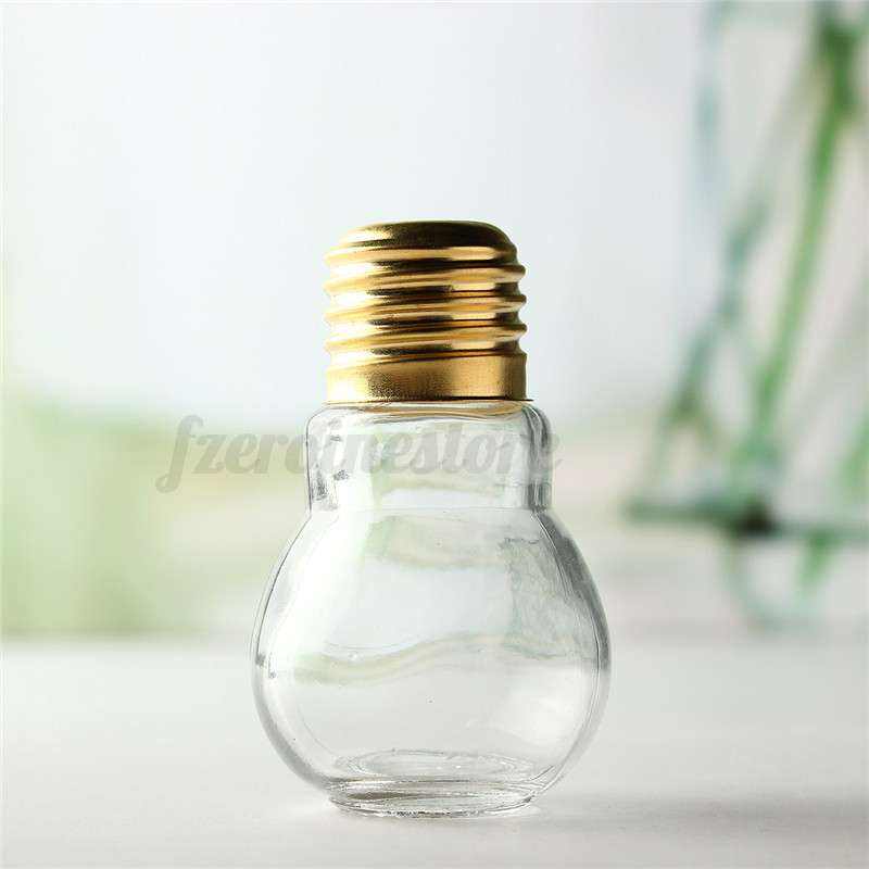 Glass Coffee Wine Drink Bottle Light Bulb Plant Flower Vase Container Home Decor