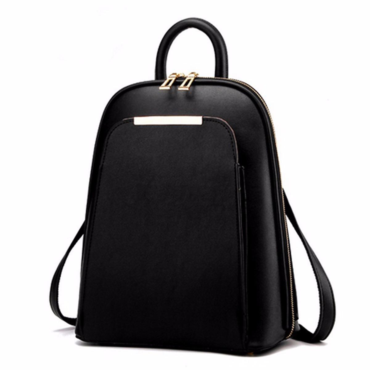 Fashion Women PU Leather Travel Satchel Shoulder Bag Backpack School Rucksack