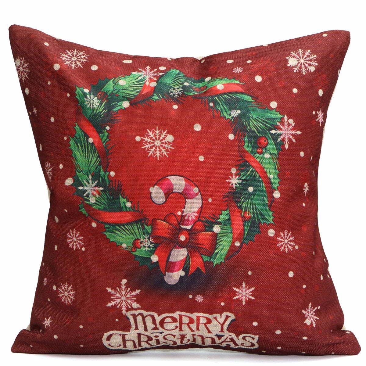 Baumwolle leinen kissenbezug kissenh lle sofa dekokissen - Dekokissen weihnachten ...