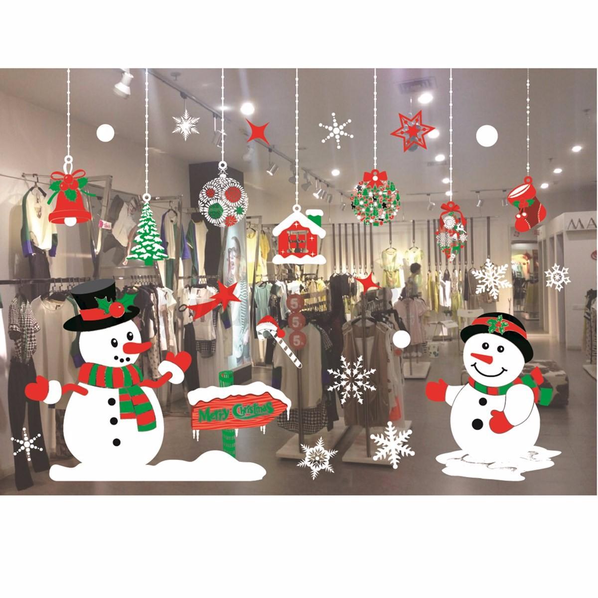 Weihnachten Wandaufkleber Weihnachtsmann Aufkleber Wandtattoo Wand Fenster Deko