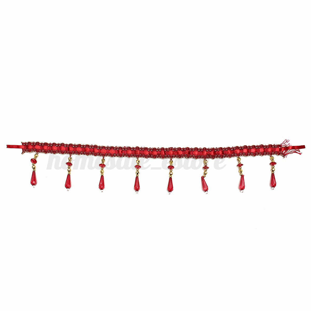 Home Crystal Beaded Curtains & Voiles Rope Tie Back Swags Decorative Holdbacks N