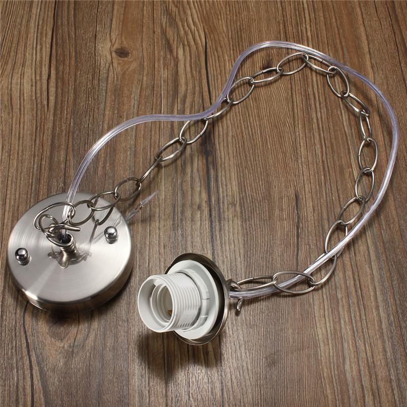 Modern Ceiling Rose Chain Pendant Chandelier Lamp Light