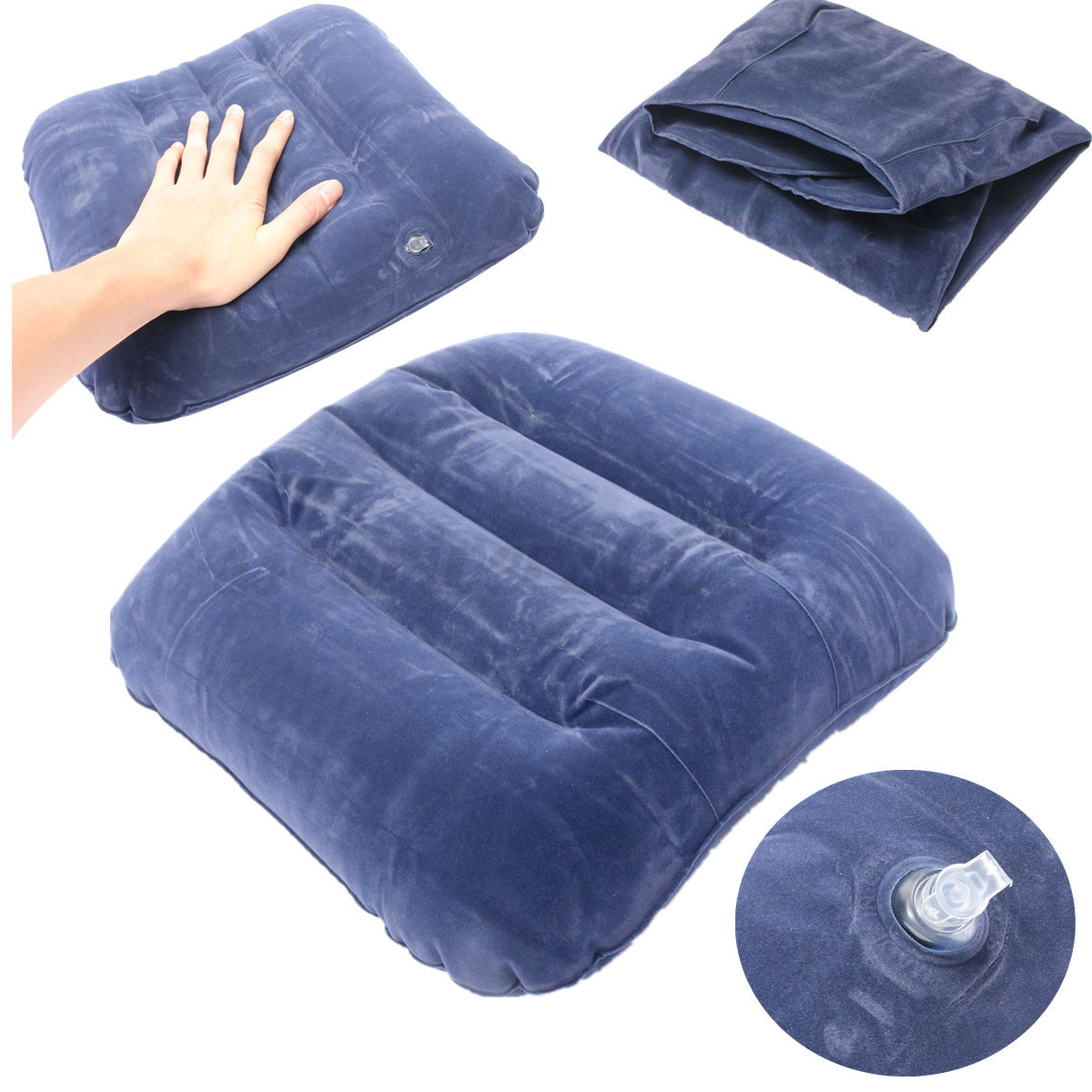 Inflatable Travel Foot Rest Back Footrest Pillow Multi
