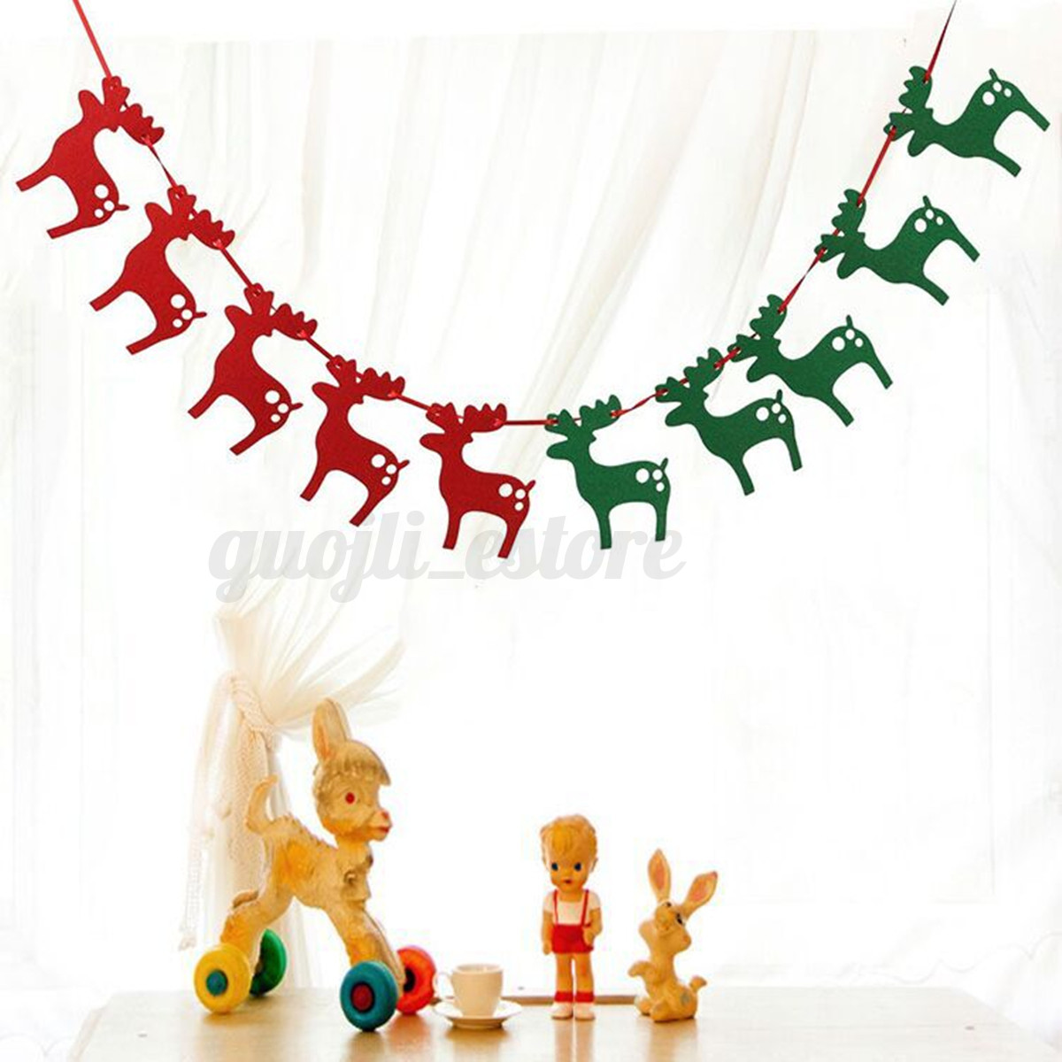Merry Christmas Hanging Banner Bunting Garland Xmas Party