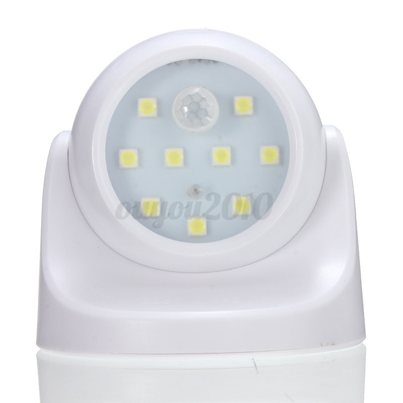 9 LEDs White Motion Activated Light Sensor Battery Wireless Outdoor Wall Lamp