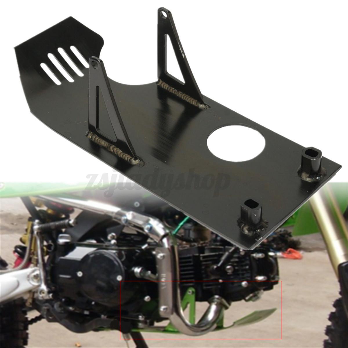 black pit bike skid plate engine motor protect for honda. Black Bedroom Furniture Sets. Home Design Ideas