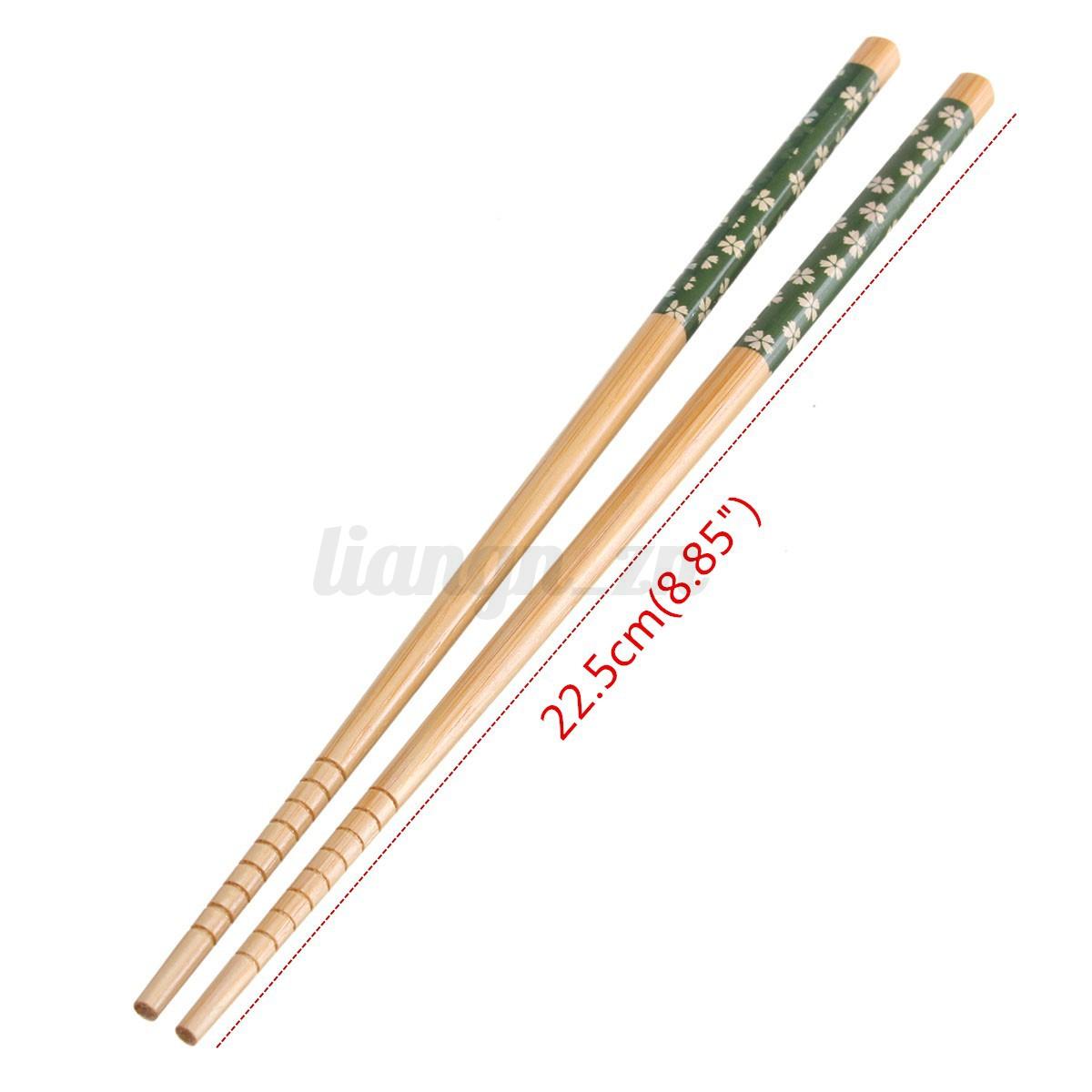 5 pairs baguettes chinoise japonaise bambou fleur cadeau ustensile cuisine art ebay. Black Bedroom Furniture Sets. Home Design Ideas